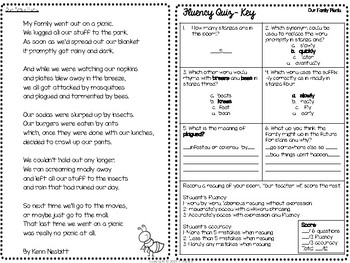 Fluency Practice Poem: Our Family Picnic