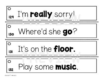 Fluency Practice (Prosody Strips)