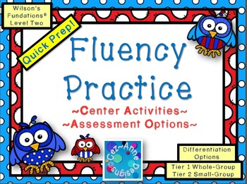 Fluency Practice ~ Level 2 Center Activities and Assessmen