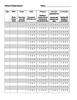 Fluency Practice Record