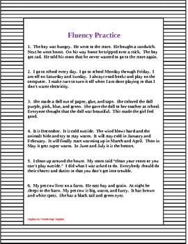 Fluency Practice Sentences, Sightword Practice and Flashcards