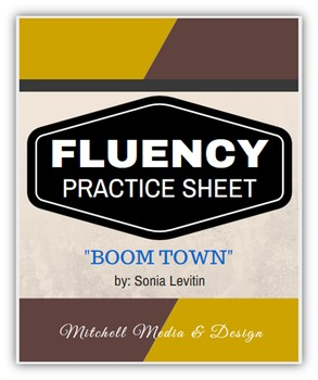 """Fluency Practice Sheet - """"Boom Town"""" by Sonia Levitin"""