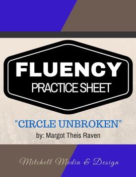 Fluency Practice Sheet - Circle Unbroken by Margot Theis Raven