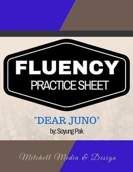 """Fluency Practice Sheet - """"Dear Juno"""" by Soyung Pak"""