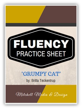 "Fluency Practice Sheet - ""Grumpy Cat"" by Britta Teckentrup"