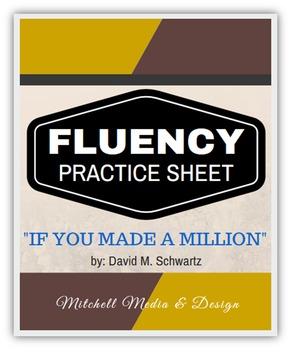 """Fluency Practice Sheet - """"If You Made a Million"""" by David"""