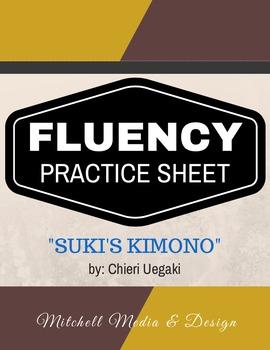 "Fluency Practice Sheet - ""Suki's Kimono"" by Chieri Uegaki"