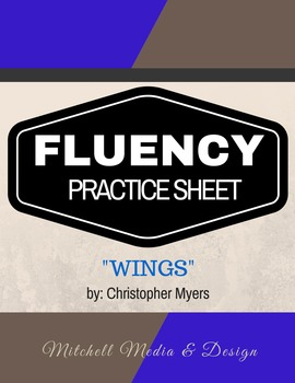 "Fluency Practice Sheet - ""Wings"" by Christopher Myers"