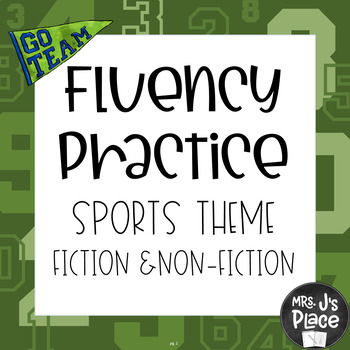 Fluency Practice- Sports theme bundle