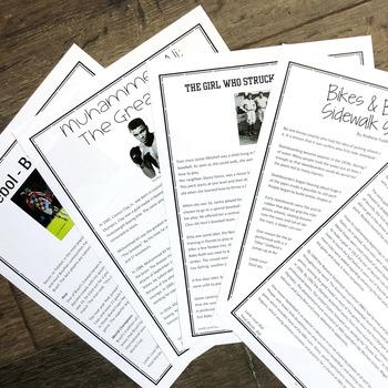 Fluency Practice- Sports theme bundle