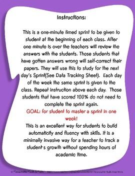 Fluency Practice - Subtraction 0 & 1's