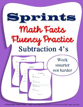 Fluency Practice - Subtraction 4's