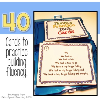 Fluency Practice Task Cards - Repeated Reading and Reading with Expression