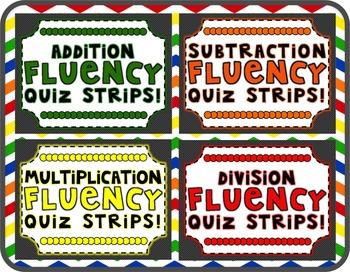 Fluency Practice and Quiz Strips Bundle