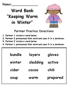 Fluency Activities: January
