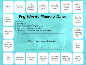 Fry Words - Second Hundred:  Fluency Building Activities
