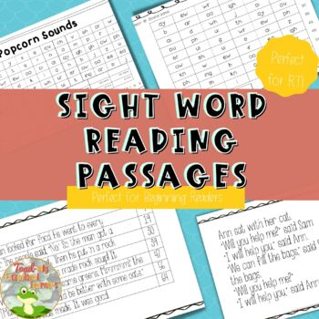 RTI Passages for Struggling Students