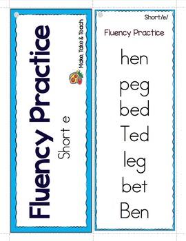 Short Vowels- Fluency Practice with Short Vowels