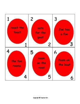 Fluency Practice with Vowel Team Phrases