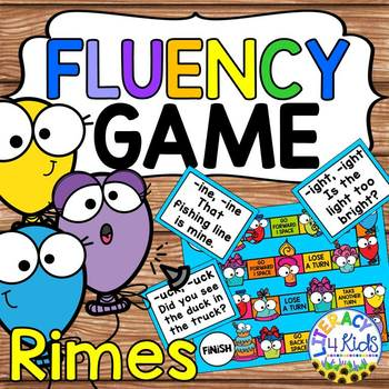 photograph about Printable Board Games titled Fluency Printable Board Activity: Rimes for Grades 1 and 2