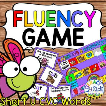 picture relating to Printable Board Games for Kids called Fluency Printable Board Match: Brief U CVC Terms