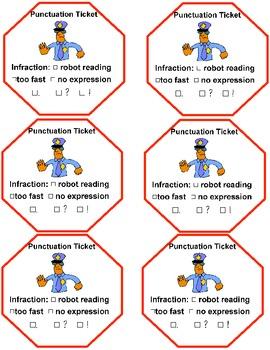 Fluency- Punctuation Police, Fluency Ticket