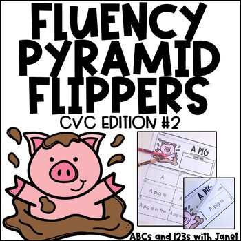 Fluency Pyramid Flippers {CVC edition #2}
