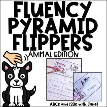 Fluency Pyramid Flippers {animal theme}
