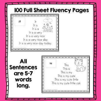 Fluency Pyramids Dolch First 100 High Frequency Words