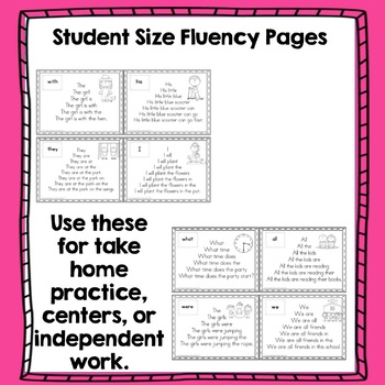 Fluency Pyramids Dolch First 100 Sight Words