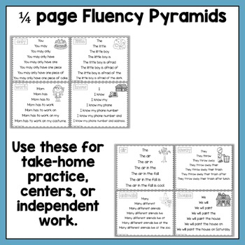 Fluency Pyramids Fry's Second 100 High Frequency Words