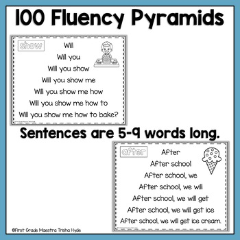 Sight Word Fluency Pyramids Fry's Second 100