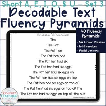 Fluency Pyramids - Short A, E, I, O, & U - Set 3
