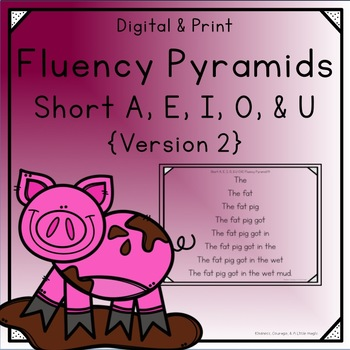 Fluency Pyramids - Short A, E, I, O, & U - Version 2
