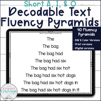 Fluency Pyramids - Short A, I, & O