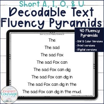 Fluency Pyramids - Short A, I, O, & U