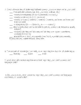 Fluency Questionnaire for Parents
