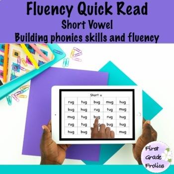 Fluency Practice: Short Vowels Quick Read