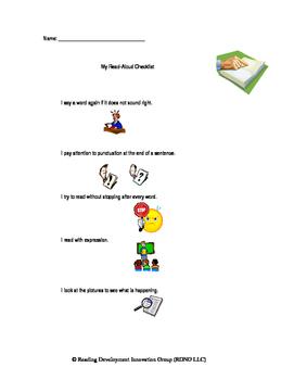 Fluency Read Aloud Checklist