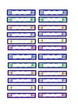 Fluency Reading Chart: Blue Border