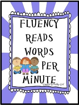 Fluency Reading Chart: Completely Editable