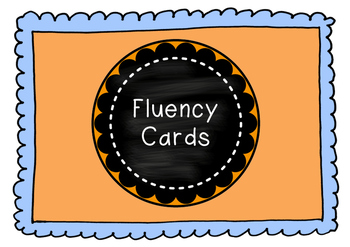 Fluency Reading Cards