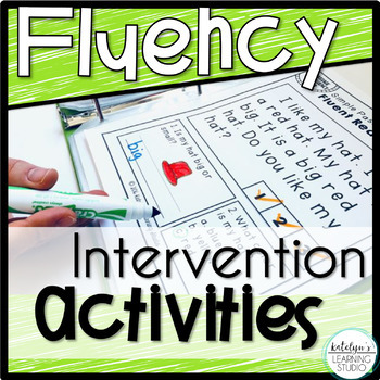 Beginning Fluency Reading Intervention Binder