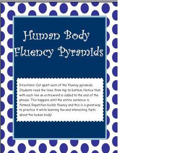 Fluency Reading Pyramids using Human Body Facts