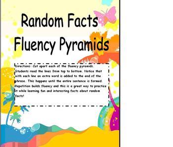 Fluency Reading Pyramids using Random Facts