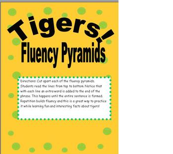 Fluency Reading Pyramids using Tiger Facts