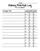 Fluency Reading Tracker for Any Passage