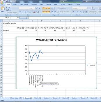 Fluency Recording Form - Excel
