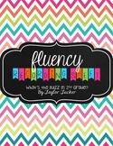 Fluency Recording Sheet