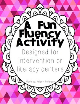 Fun Fluency Repeated Reading Activity ~ Intervention for Fluency